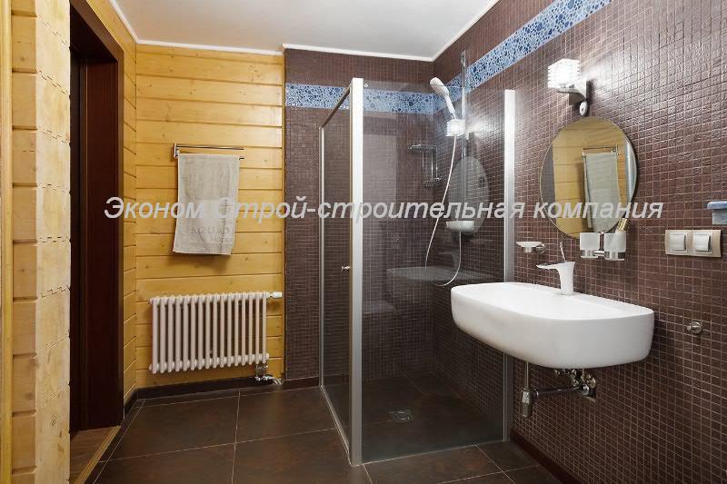 Дизайн ванной комнаты в доме из бруса фото